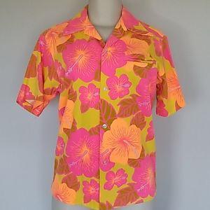 Pomare Tahiti vintage hawaiian print shirt-S